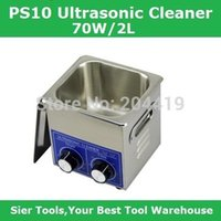 Wholesale PS L W Stainless Steel Ultrasonic Cleaner washing basket Knob Control Heating Ultrasonic Washing Machine pc head