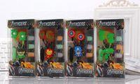 Wholesale Students Kids Cartoon Earphones Avengers mm in ear Headphones For MP3 MP4 Smart Phone Music Player