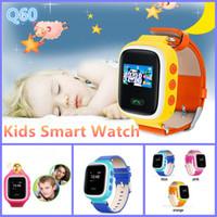 Dispositivo de niño perdido Baratos-Recordatorio Reloj Q60 TOLERADO GPS de localización perdida anti SOS Buscador de dispositivos Android monitor del perseguidor niños Q60 reloj teléfono inteligente VS DZ09 U8