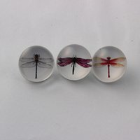 Wholesale MM Snap Button Jewelry Glass Dragonfly Snap Buttons For Ginger Snaps Bracelet Mixed