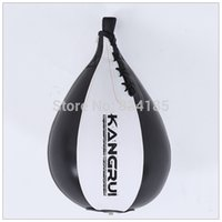Wholesale KB406 Leather Vertical Boxing Speed ball Ceiling Ball Sport Speed Bag Punch Exercise Punching training ball Fitness Speedbag