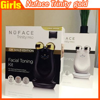 microcurrent equipment - NuFACE Trinity PRO K Gold Facial Toning Kit Limited Edition face massager electric roller Multi Functional Beauty Equipment no carry bag