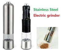 Wholesale Stainless Steel Portable Electric Pepper Grinder Muller Pepper Mill with Light Seasoning Grinding Kitchen Tools ak088