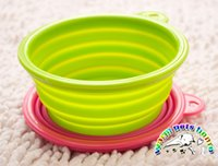 Wholesale Stainless steel dog bowls yellow red dog bowl double dog bowl pet dog feeders non slip puppy food bowl CF018