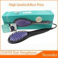 Wholesale DAFNI Hair Straightener Brush Magic Comb Hair Straightening Irons Electric Dafni Hair Brush Straight Hair Styling Tool VS Beautiful Star