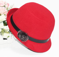Wholesale New arrivel fashion accessories stingy brim women hats imitation wool warm casual beautiful cap free size