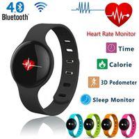Wholesale 2016 new Smartwatch U8 bluetooth fit tracker original H8 heart rate wristband Wrist bracelet w pedometer fit all Phones