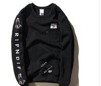 active cats - RIPNDIP hedging brand for men and women couple long sleeved round neck cashmere sweater cotton sweater jacket middle finger cheap cat