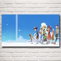 art clouds - Clouds Digimon Adventure Anime Girls Cartoon Art Silk Fabric Poster Prints x36 Inch Home Wall Decor Painting