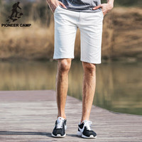 best running pants - Pioneer Camp summer new fashion mens short pants thin cotton comfortable shorts surf casual running shorts best gift to your boy