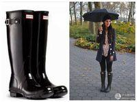 designer sheepskin boots - Famous Designer Hunter Boots Wellies Rain Boots Waterproof for Women Outdoor shoes Size Colors hunters Cheap Sale