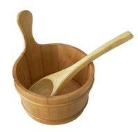 Wholesale Sauna bucket and scoop for Sauna accessories