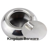 Wholesale Stainless Steel Ashtray with Lid Cigarette Ashtray Ash Holder for Smokers Ash Tray for Home office Decoration