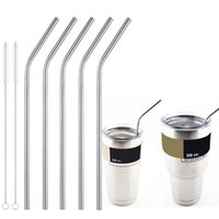 beer for sale - New Metal Drinking Straw Stainless Steel Bend Drinking Straw Beer and Fruit Juice Straw Yeti Stainless Steel Straws For Sale