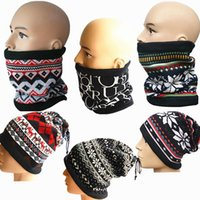 Wholesale 2016 New Winter Outdoor Flannel Scarf Collars Printing Multifunction Outdoor Caps Double Drawstring Collar Variety Changed Scarf
