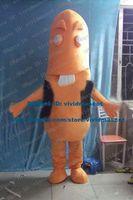 big sausage - Authentic Orange Sausage Wurst Ham Banger Gammon Mascot Costume Cartoon Character Mascotte Adult Big Front Teeth ZZ1119 Free Sh