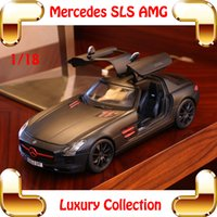 Wholesale New Arrival Gift Maisto Mercedes SLS AMG Big Metal Model Car Collection Alloy Vehicle For Details Home Decoration Race Toys