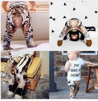 baby tiger photos - Real Photo New baby Girls Boys Pants D Digital Tiger Printed Baby Harem Pants baby Boy Girl Kids Children Trousers