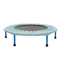 Wholesale Popular Inch Kids Round Trampoline Fitness Equipment Foldable Children Jumping Toys Indoor Playground Baby Bounce Bed MD0089