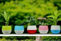 Wholesale Garden Flower Pots Small Mini Colorful Plastic Nursery Flower Planters Home Office Desktop Garden Decor Gardens Pots Gardening Tool Supplies
