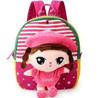 Wholesale New Kids Baby Children Infants Kindergarten Girls Boys Cute Satchel Cartoon Doll Bag Shoulderbag Schoolbag Backpacks S3286