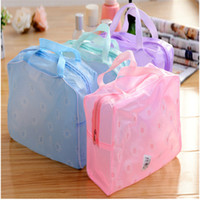 bathing pillow - Hot Floral Print Transparent Waterproof Cosmetic Bag Toiletry Bathing Pouch