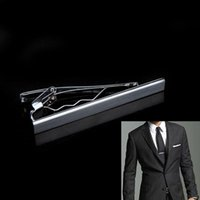Wholesale Fashion Classic Men Metal Silver Tone Simple Necktie Tie Bar Clasp Clip