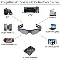 Compra Reproductor de dvr-Cámara de vídeo de las gafas de sol del bluetooth de la alta calidad 8GB 4 en 1 registrador video de la videocámara de la cámara del jugador MP3 DVR mini Envío libre
