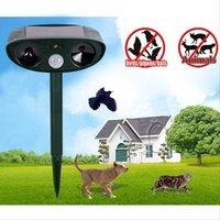 animal repellents - Ultrasonic Solar Power Pest Animal Repeller Repellent Garden Bird Cat Dog Fox Rats Ultrasonic Solar Speakers B232