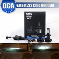 Wholesale 2PCS LM For ZES chips Car LED Headlight Conversion Kit H4 HB2 H7 H8 H9 H11 H13 HB3 HB4