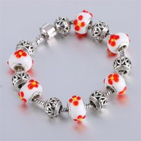 antique cloisonne beads - 2016 Fashion Jewelry Butterfly Charm Bracelets Bangles For Women Antique Silver Crystal Beads Bracelet Fine Gfit