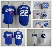 Wholesale stitched los angeles dodgers jersey Jackie Robinson jersey throwback baseball Clayton Kershaw jersey top quality