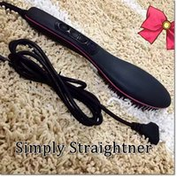 abs hair - 2016 new brand ABS PTC hair straightener hair makeup tool fast hair straightener comb with EU US adapter for choose