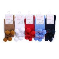 Wholesale Pettigirl Retail Girl Socks Baby Ruffle Bow Sock High Knee Handmade Kids Boutique Baby Chilren Everyday Wear