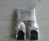 Wholesale 2016 Hot sell foldable ballet flat vending shoes fold up ballerina