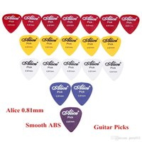 Wholesale High Quality Guitar Picks Alice mm Smooth ABS Guitar Picks Giutar Plectrums Guitar Parts Accessories set