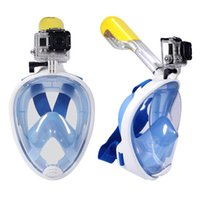 Wholesale Brand Underwater Diving Mask Snorkel Set Swimming Training Scuba mergulho full face snorkeling mask Anti Fog For Gopro Camera