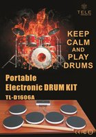 Wholesale Learning Education Toys Drum Kit Portable Electronic DRUM KIT drum set Musical Instruments Toys Gifts