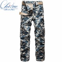 bags fly free - Men s casual pants camouflage military camouflage bags pants pants men outdoor man machine