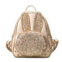 Wholesale Hot Sell Women Fashion casual Sequins Rivet Backpack Female students multi function Multi Colors Cartoon Book Bag