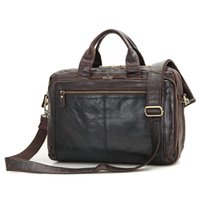 Wholesale JMD Vintage Leather Handbag Briefcase For Lawyer Laptop Bag Top Handle Business Bag Q