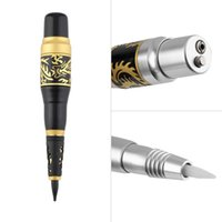 Wholesale Professional Permanent Makeup Tattoo Eyebrow Pen Machine Needles Tips Power Supply Set US Plug New Quality