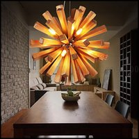 bamboo dining room - Pendant Lights LED Bulb Included Country Living Room Bedroom Dining Room Study Room Office Wood Bamboo LLWA128