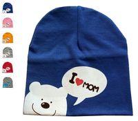 Wholesale New Arrivals Newborn Baby s Toddler Kids Beanie Warm Cap Hats Cotton Cute Carton Elasticity Soft KA109