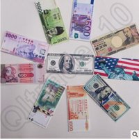 paper money - 500pcs CCA4290 High Quality Various Countries Paper Money Wallet Fashion Unisex Dollar Purse Wallet Card Holders Children Kids Gift Presents