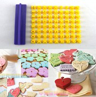 Wholesale Practical adjustable Cookie biscuit stamp embosser cutter stamp the alphanumeric combination baking fondant mold free delivery