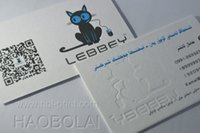 Wholesale g business paper card texture creamy PAPER embossed LOGO size mm C C print QR code
