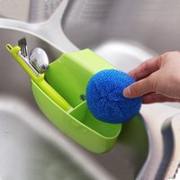Wholesale Multifunctional cleaning sponge Draining rack Self Draining Sink Tidy Sink Aid Organizer Brush Sponge Cleaning Cloth Holder