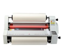 Wholesale 220V Hot Cold Roll Laminator V350 quot Laminating Machine Single Dual Sided