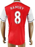 Wholesale Thai Quality Customized men RAMSEY Soccer Jerseys Shirts Tops NEW CHAMBERS WELBECK Soccer Jerseys CECH MACEY Soccer WEAR